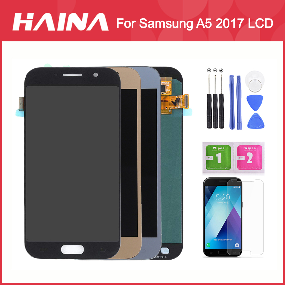 A5 2017 <font><b>Display</b></font> High Quality For <font><b>Samsung</b></font> Galaxy A5 2017 <font><b>Display</b></font> Screen A520 <font><b>A520F</b></font> LCD Touch Screen Digitizer A5 2017 LCD Frame image