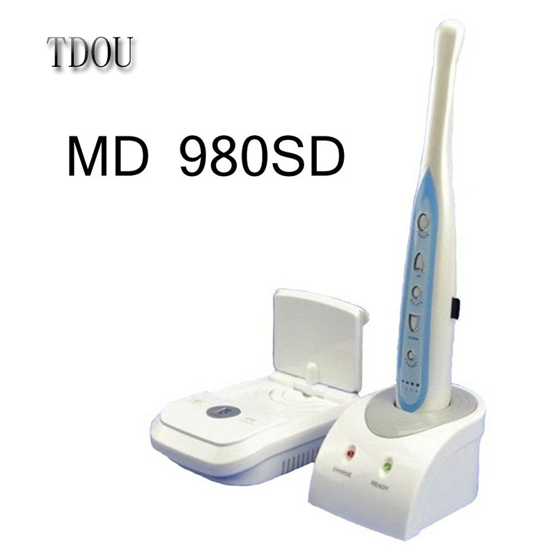 TDOUBEAUTY Intra Oral Camera MD-980SD New 0.68 Mega Pixels Wireless CMOS Intraoral Camera with Mini SD Card Free Shipping