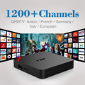 S905X Amlogic Quad Core Android 6.0 TV Box 1G/8G 2.4 GHz WIFI Set Top Box com Livre Árabe IPTV Canais Europa Filmes Céu esportes