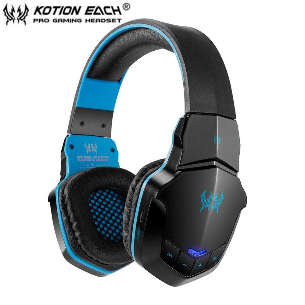 все цены на KOTION EACH B3505 Wireless Bluetooth 4.1 Stereo Gaming Headphone Headset Support NFC Mic Suitable For Phone Computer Voice онлайн