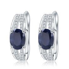 Серьги гвоздики женские из серебра 925 пробы с натуральным голубым