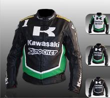 Kawasaki мотоциклетная куртка одежда автопробег по бездорожью мотоциклов ИСКУССТВЕННАЯ кожа куртка езды джерси ветрозащитный