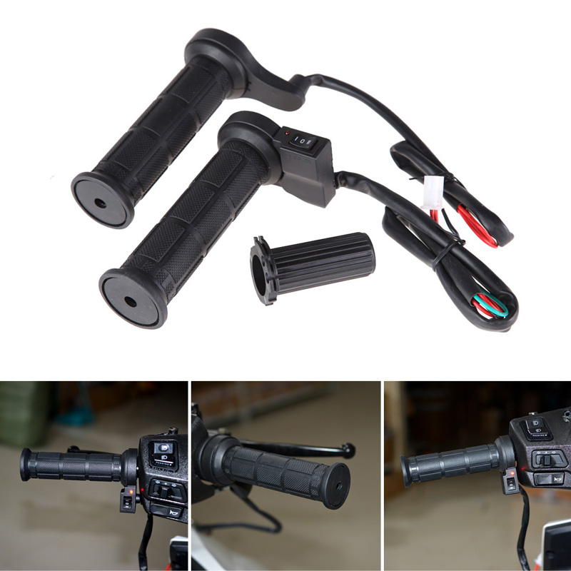 """Motorcycle 7//8/"""" 22mm Electric Hand Heated Molded Grips ATV Warmers Hot Handlebar"""