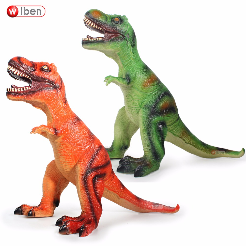 Jurassic Big Dinosaur Toy Tyrannosaurus Rex Soft Plastic Animal Model Christmas Gift цена