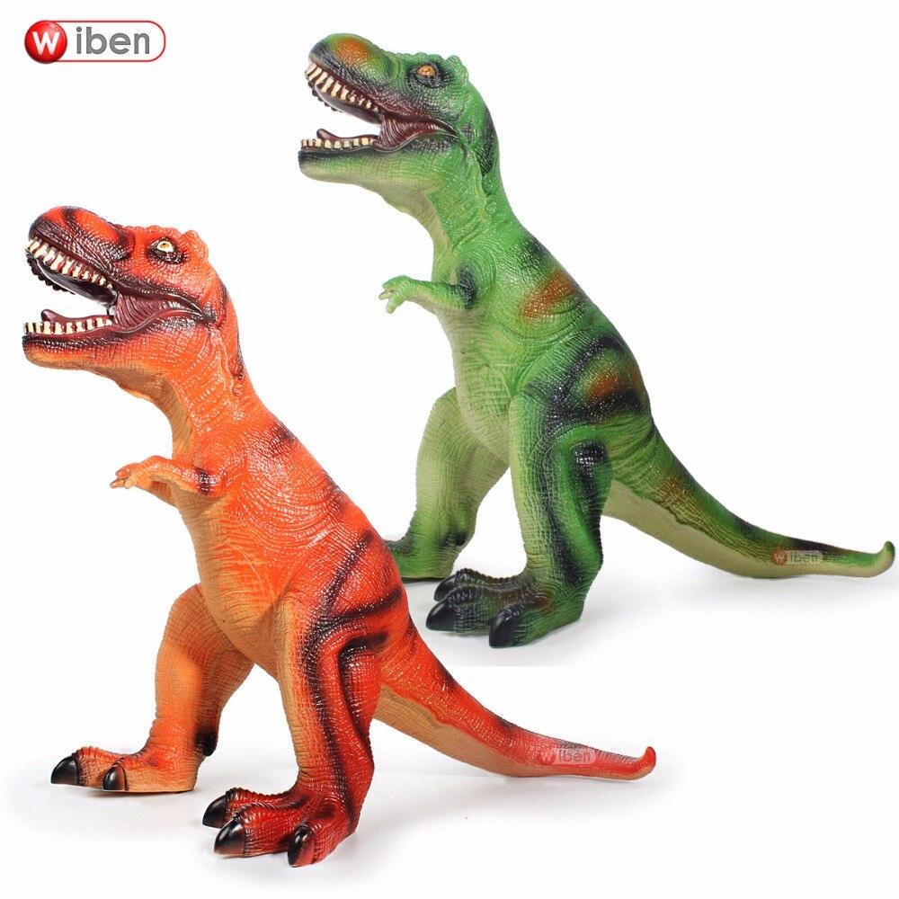 Jurassique gros dinosaure jouet tyrannosaure Rex en plastique souple modèle Animal cadeau de noël