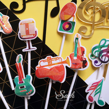 Musical Note Cake Topper for Party Decoration