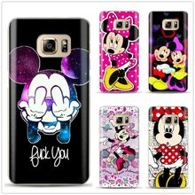 Mickey Minnie Siliconen Case Voor Coque Samsung Galaxy S6 S7 Rand S8 S9 Plus J3 J5 J7 A5 A6 A7 2016 2017 Opmerking 8 A8 Plus 2018 Cover(China)