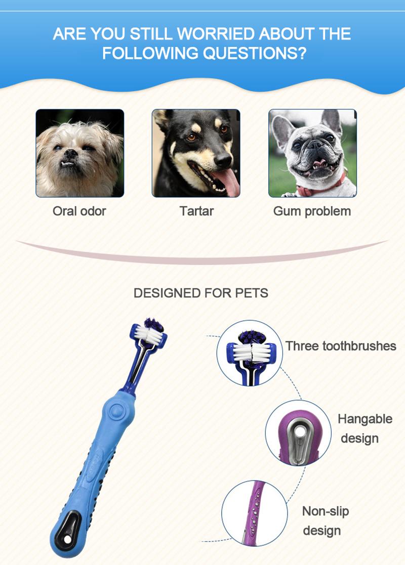 Cepillo de dientes antideslizante para perros 2