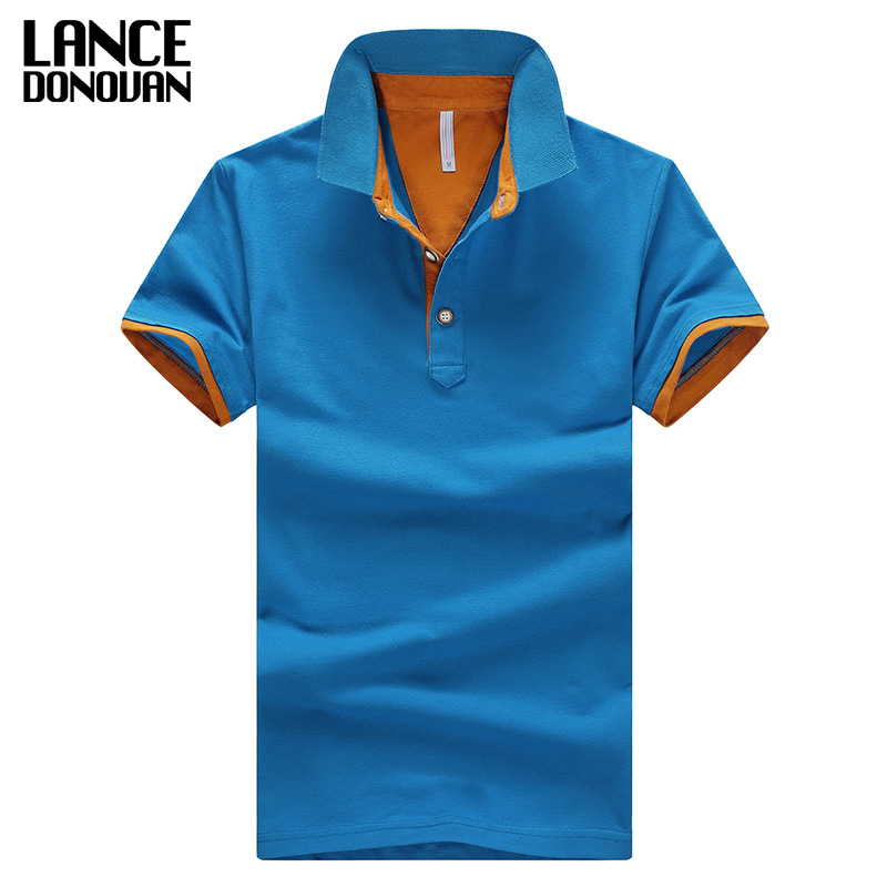 2019 Summer Solid Breathable 95% Cotton Slim Short Sleeve Homme Plus Size 3XL 4XL Brand Mens Polo Shirt
