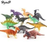 HziriP 12 pçs/lote Dinossauro de Brinquedo Conjunto de Brinquedos De Plástico Jogar Decoração Modelo de Ação e Figuras de Animais Dos Desenhos Animados Crianças Melhor Presente para meninos