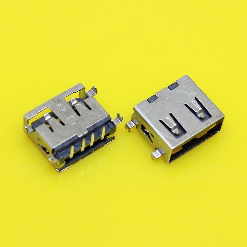 US-165 USB 2.0 4Pin AF bend Pin USB female Jacks/socket for Desktop Laptop PC/phone charger etc.10mm Short USB jack,Black