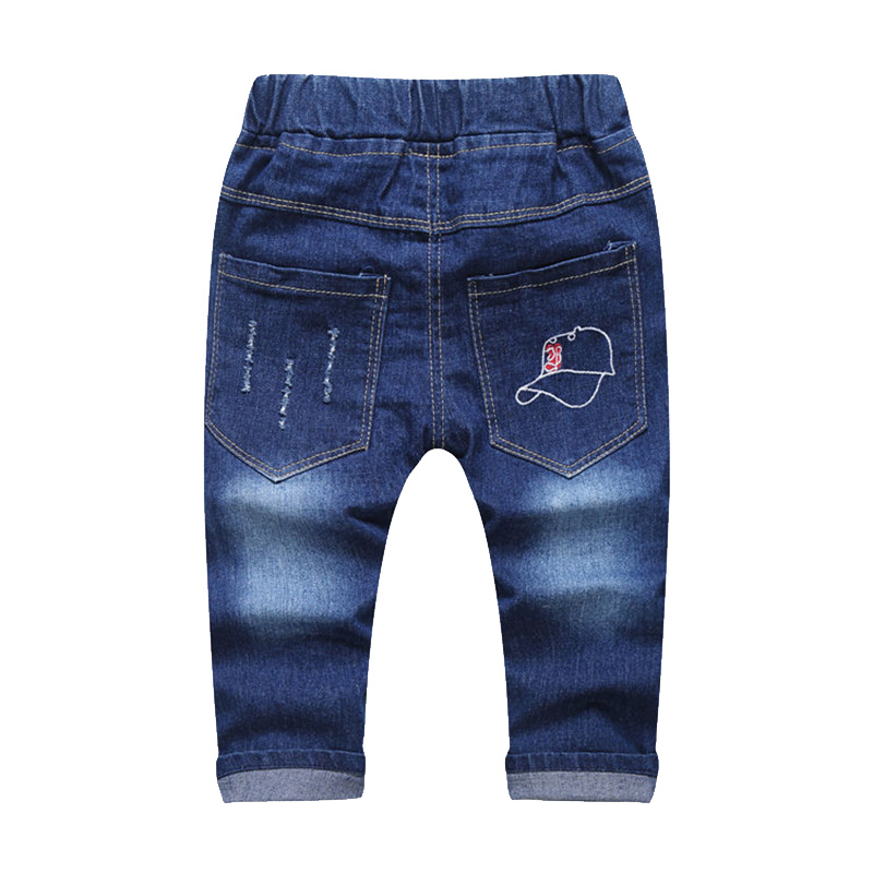 New Patch Boys Jeans Pants Spring Autumn Print Kids Jeans Trousers 2017 Baby Jeans With Embroidery Ripped Denim Trousers Baby (9)