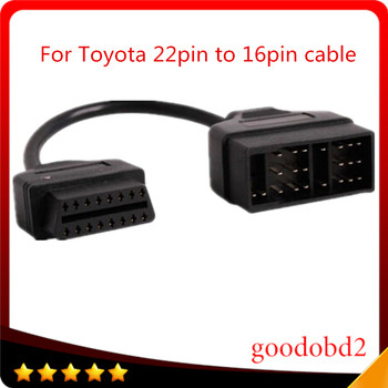 For Toyota OBD Connect 22 Pin 22pin Male to OBD2 OBDII DLC 16 Pin 16pin Female Connection Adapter Cables Diagnostic car cable цена 2017