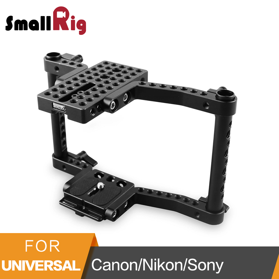 Smallrig Camera Cage For Canon 50 60 70 80D MarkII 5D MarkIII 5DS For Nikon D7000 7100 7200 For Sony A9 DSLR Camera Rig-1584