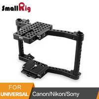 Cámara pequeña jaula para Canon 50 60 70 80D MarkII 5D MarkIII 5DS para Nikon D7000 7100, 7200 para Sony A9 DSLR cámara-1584