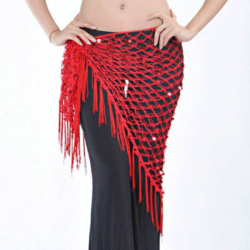 Multicolor Triangle Belt Hand Crochet Belly Dance Hip Scarf For