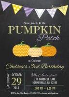 Huayi giallo viola zucca invito compleanno, lavagna Caduta Pumpkin Patch Invitare Scenografia