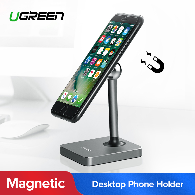 Ugreen Magnetic Tablet Holder Magnet Cell Phone Holder Mount Desk Holder Stand for iPhone 8 iPad Samsung Galaxy S9 Phone Holder цена и фото