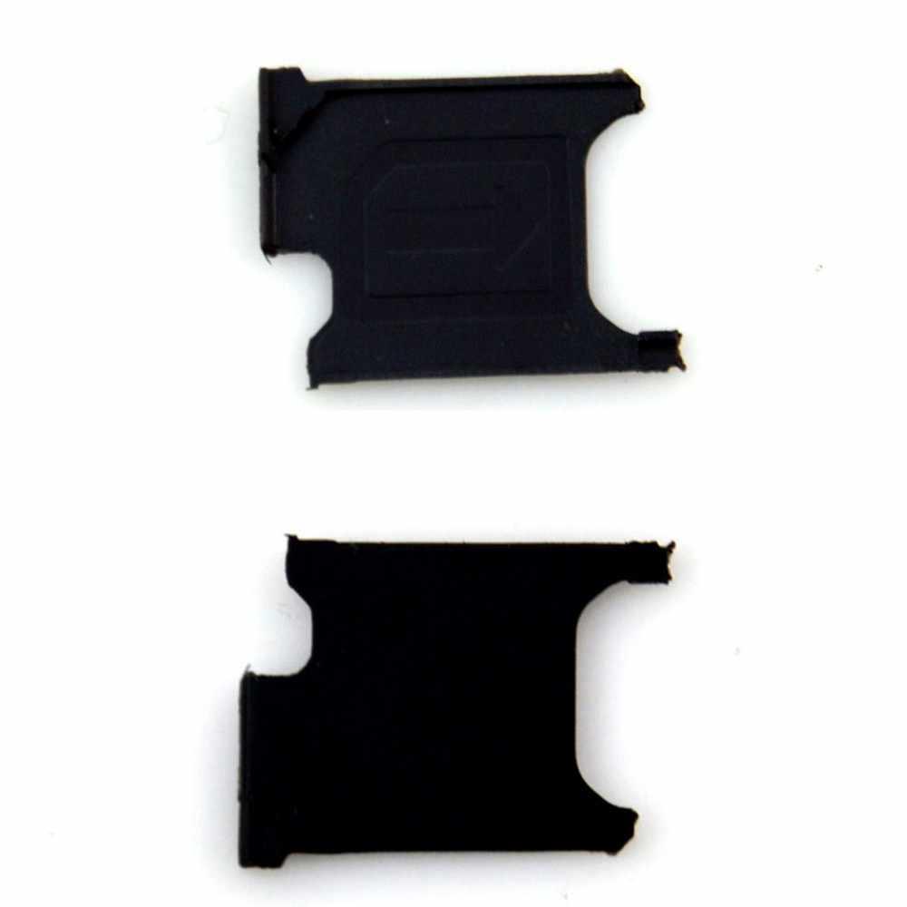 1 Piece חריץ מיקרו כרטיס ה-sim מגש בצבע שחור חדש מקורי החלפה עבור Sony Xperia Z1 L39h C6902 C6903 מחזיק כרטיס ה-sim מחזיק