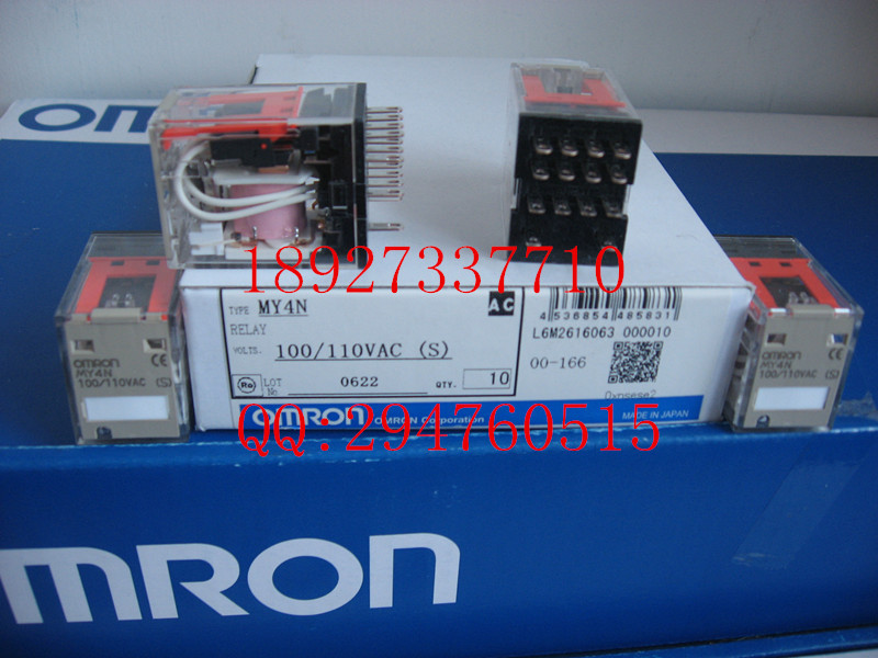 [ZOB] New original authentic OMRON Omron relay MY4N AC100 / 110V factory outlets --5PCS/LOT omron h7cx a114s n 100 240v ac