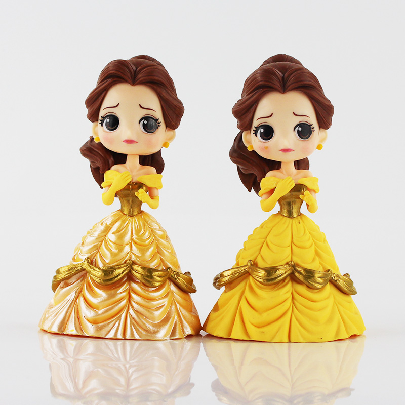 13cm Q posket Beauty and the Beast Belle PVC Figure Model Toy Princess Doll Gift for Girls 5pcs lots 2017 film extraordinary corps mecha five beast hand collection model toy