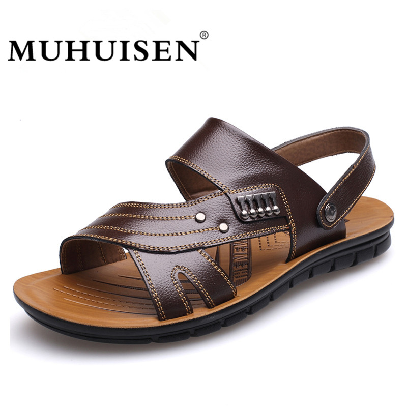 MUHUISEN Muška 100% Genuine Leather Sandale Novi Famous Brand Casual - Muške cipele - Foto 3