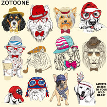 ZOTOONE Dog Patches Cute Cartoon Animal Stickers for Tops T-shirt Household Iron-on Transfer DIY Decoration Appliqued Bags C
