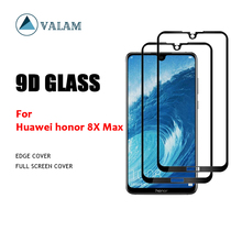 VALAM Tempered Glass Screen Protector For Huawei honor 8X Max 9H Hardness  Full Cover 3D Curved Edge