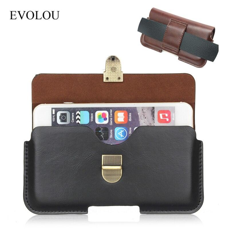 Universal Holster Hip Belt Clip Phone Bag For Huawei P10 P9 P8 2017 V8 BQ Strike 5050 Waist Leather Cover For Prestigio D3 Z5 C3