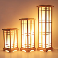 Modern Japanese Floor Lamp Washitsu Tatami Decor Window Pane Lamp Restaurant Living Room Hallway Lighting Home Design Wood Lamp