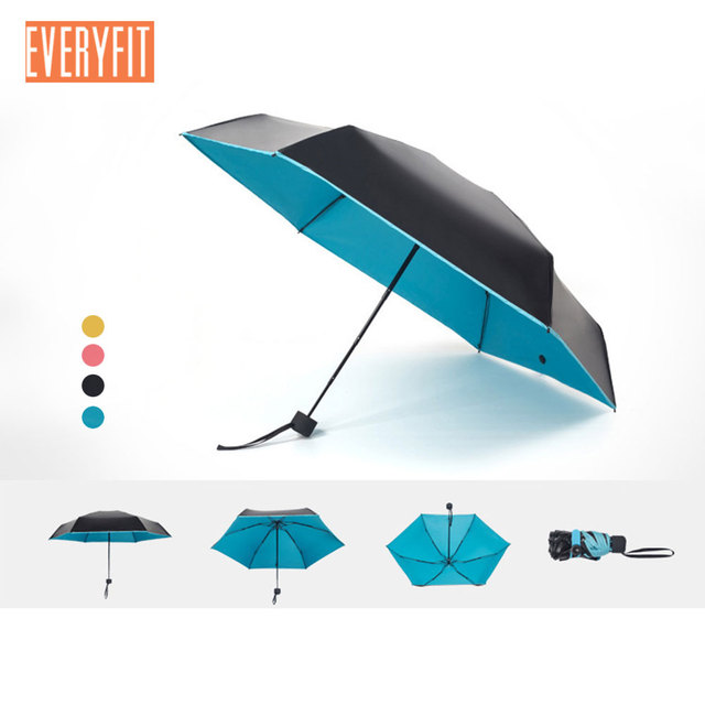 f790068bacc0 US $12.15 18% OFF|Mini Umbrella,Small Umbrella, Travel Umbrella,Sun and  Rain Umbrella,95% UV Protective 5 folding Compact Ultra Light Parasol -in  ...