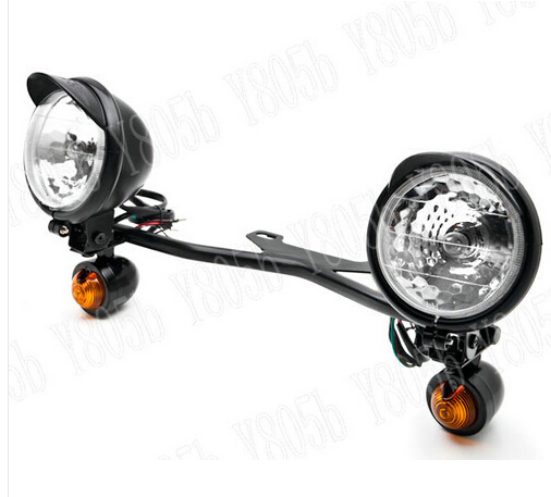 Black driving turn light bar fog spot light for honda shadow spirit black driving turn light bar fog spot light for honda shadow spirit sabre aero ace steed vlx 400 600 1100 dlx vtx1300 1800 magna in instruments from aloadofball Gallery