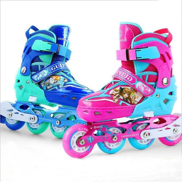 eac6103c28e Kinderen blauw en rood schaatsen schoenen Klassieke sets Dual purpose  Rolschaatsen schoenen met siez S/