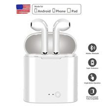 Bluetooth Earphones i7 i7s TWS Wireless In-Ear Earbuds Set Stereo Headset for iphone Samsung Xiaomi Retail Box manos libres i7 i7s tws eaphones wireless bluetooth earphone in ear music earbuds stereo headset for iphone samsung xiaomi with retail box