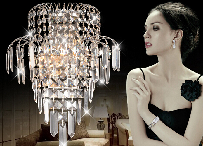 Crystal wall lamp modern simple living room bedroom bedside lamp aisle corridor stairs hotel project led wall lamps for bedroom round crystal lamp bedroom bedside lamp wall lamp simple modern personality aisle led living room wall