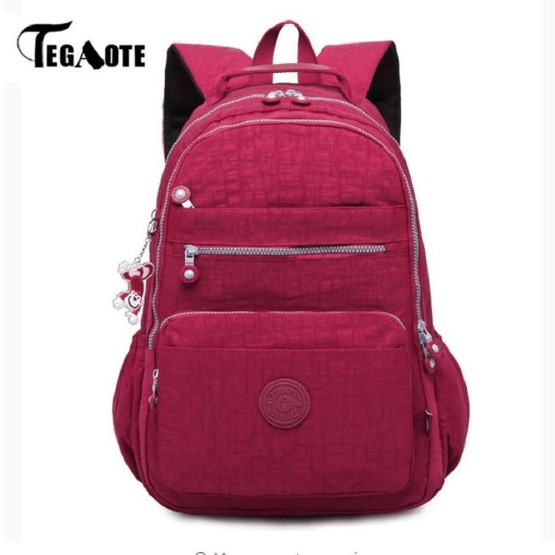 TEGAOTE 学校のバックパック女性 Mochila 女性バックパックバッグナイロン防水カジュアル旅行ラップトップ Bagpack 代の少女  グループ上の スーツケース & バッグ からの バックパック の中 1