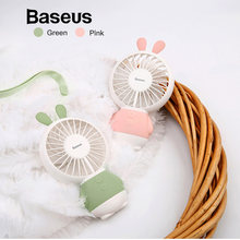 Baseus LED USB Fan 2-Speed Adjustable Portable Mini Fan Hand Fans 800mAh Rechargeable Ultra-quiet Micro USB Desk Air Cooling Fan(China)