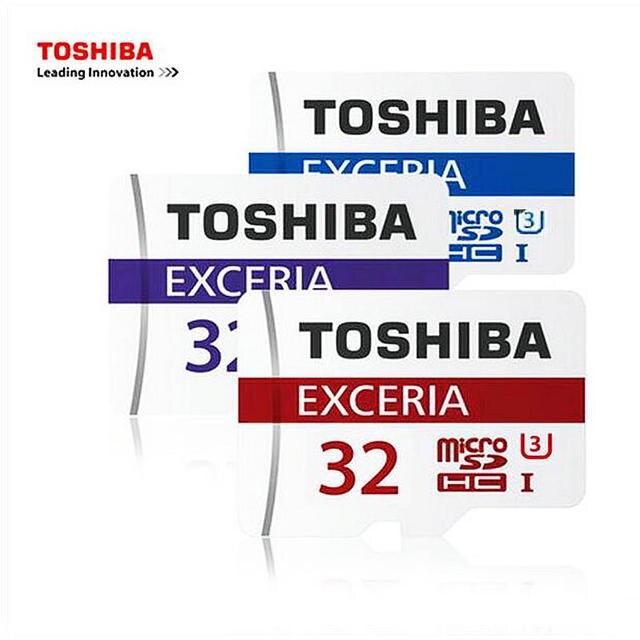 Original TOSHIBA 32GB Memory card MicroSD Class 10 Micro SD Tf For phones tablet navigator DVR + adapter + retail package