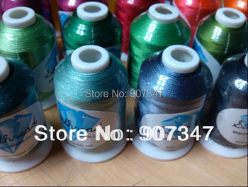 Free shipping Brother assorted colors polyester embroidery machine thread - 1000m/mini-king spool polyester filament thread/yarn
