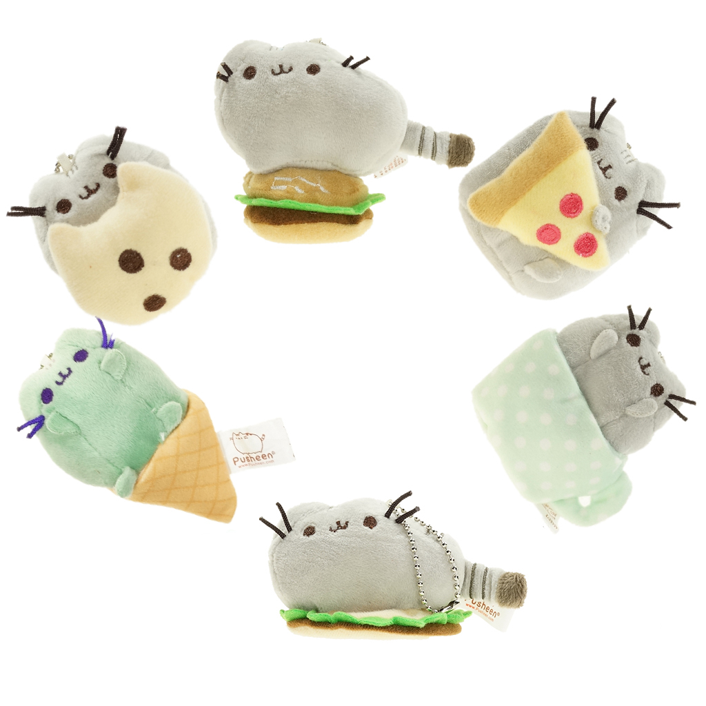 SELLWORLDER 8cm Kawaii Pusheen Cat Chain Toys for Girls