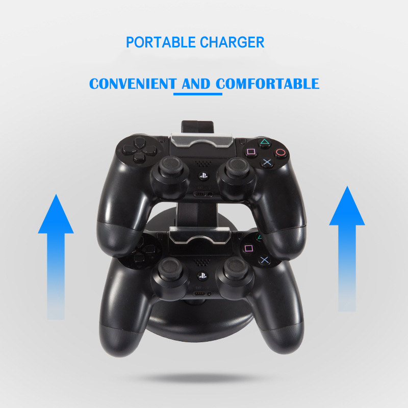 Image 4 - Controller Charger Dock LED Dual USB PS4 Stand up Charger For Sony PlayStation 4 / PS4 Pro Wireless Game Handle Joystick holder-in Chargers from Consumer Electronics