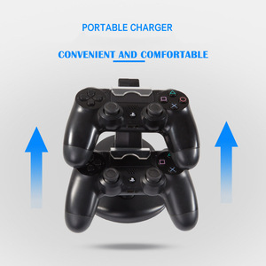 Image 4 - Controller Ladegerät Dock LED Dual USB PS4 Stand up Ladegerät Für Sony PlayStation 4/PS4 Pro Drahtlose Spiel griff Joystick halter