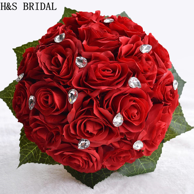 3color Rose Flower White Pink Red Color Bridal Bridesmaid Wedding