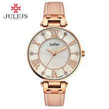 2017 New Julius Silver Watches Women Stainless Steel Quartz Watch Brand Ultra Thin Woman Watch Gold Plated Whatch Relogio JA-832