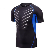 Men compression shirt tights base layer skin joggings outdoor sports Fitness Excercise gym shirt running soccer football jerseys