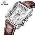 Watches Men MEGIR Brand Leather Strap Casual Watches Men's Quartz Chronograph Function Clock Man Sports Waterproof Wrist watch