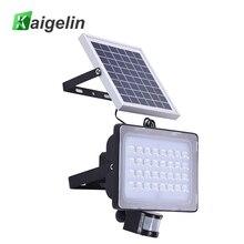 2 Pcs 128 LED 50W PIR Solar Motion Sensor LED Flood Light 6000LM Solar Lamp IP65 Solar Powered Floodlight For Outdoor Lighting