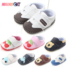2019 Newborn Baby Shoes 0-2 Years Girls Cartoon Soft Sole Comfortable Toddler Boys Moccasins First Walker
