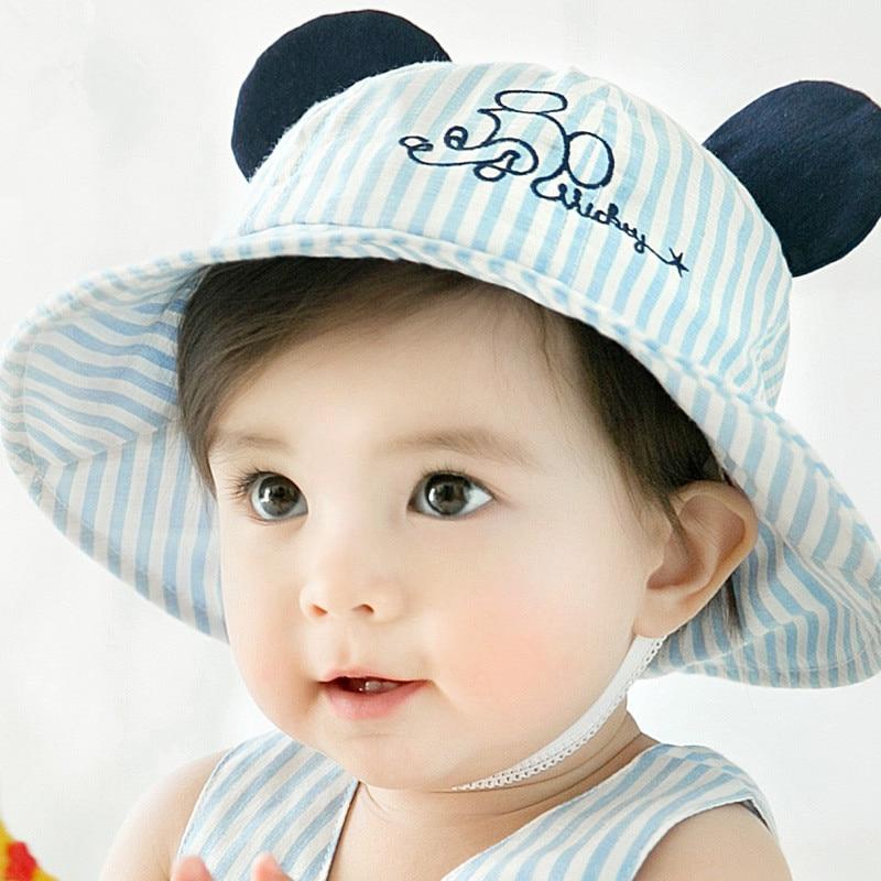 Newborn Toddler Girl Baby Kids Bucket Hat Cap Cotton Summer Sun Beach Hats