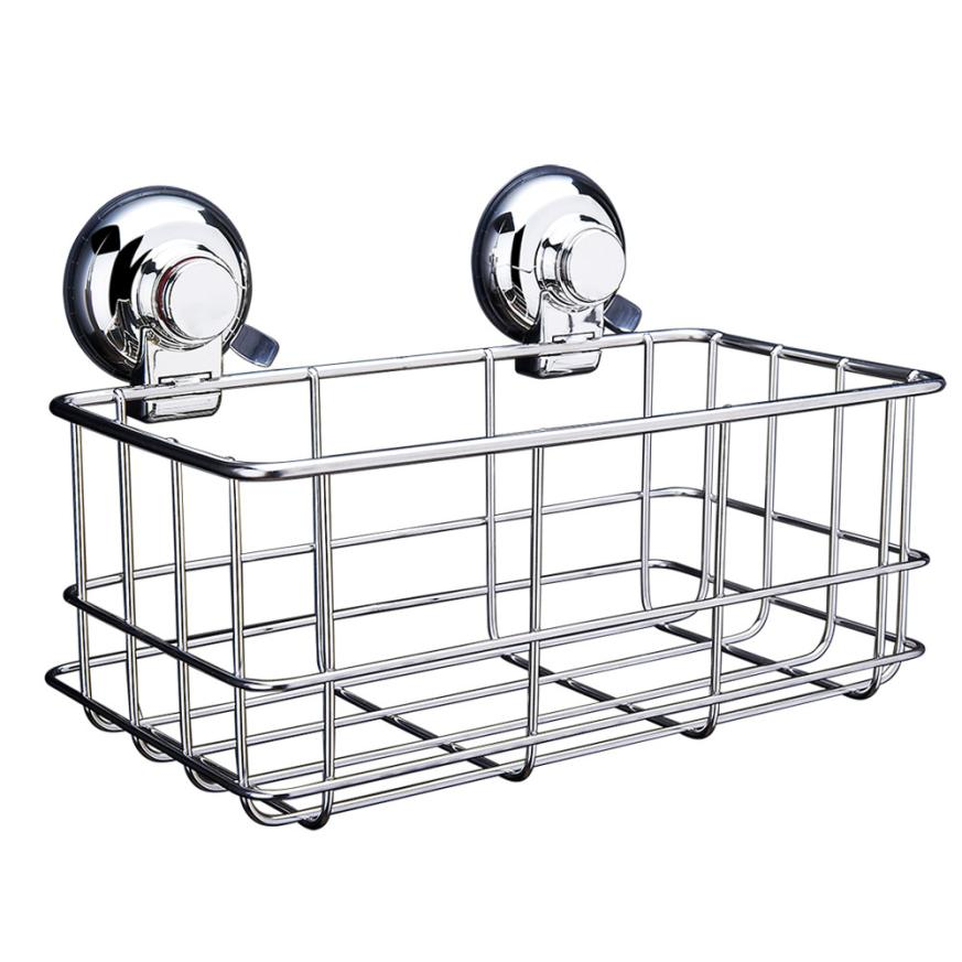 DIVV Wall Mounted Type Storage Rack Kitchen Shower Wide Polished Stainless Steel Scrubby Holder Drop Shipping Happy Sale ap705